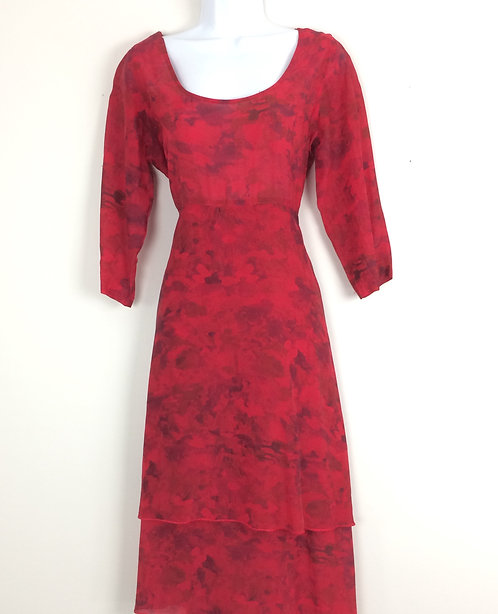 CLICK Semi Sheer Dress - Size S