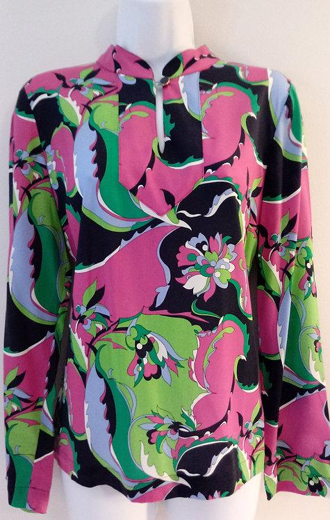 TALBOTS Floral Blouse -Size 10