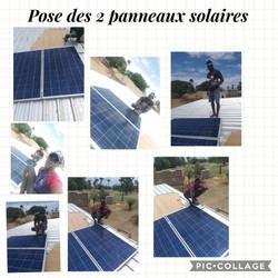 Pose des 2 panneaux solaires