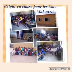 Retour en classe pour les CM2 Mai 2020