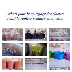 Achats pour le nettoyage des classes