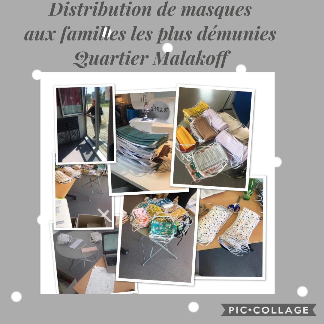 Distribution de masques quartier Malakoff