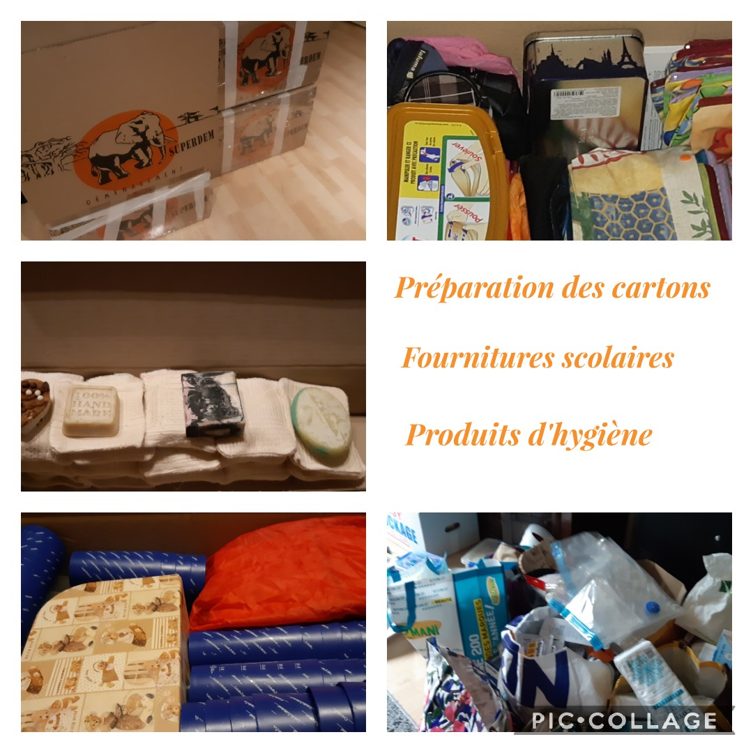 Preparation des cartons
