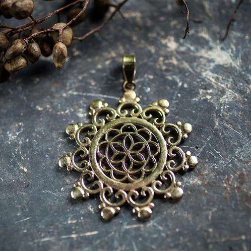 Seed of life sacred geometry pendant moonshadow artistry rene seed of life sacred geometry pendant aloadofball Gallery