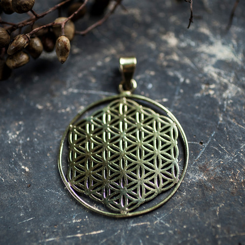 Flower of life sacred geometry pendant moonshadow artistry rene flower of life sacred geometry pendant aloadofball Gallery