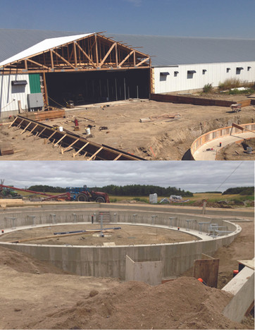 Foundation for Rotary Milking System - Bulyea Area