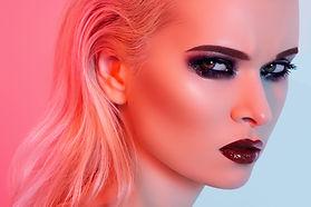 Model with smokey eyes