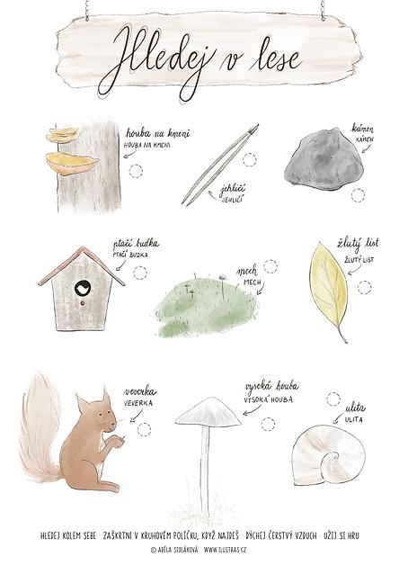 Hledej v lese - hledací podzimní hra