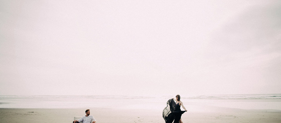 Two photographers, two models, one beach, four friends
