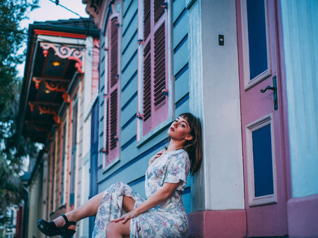 A golden hour photo shoot stroll through New Orleans