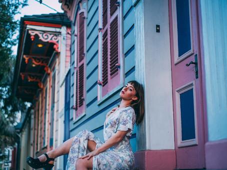 A golden hour photo shoot stroll through New Orleans