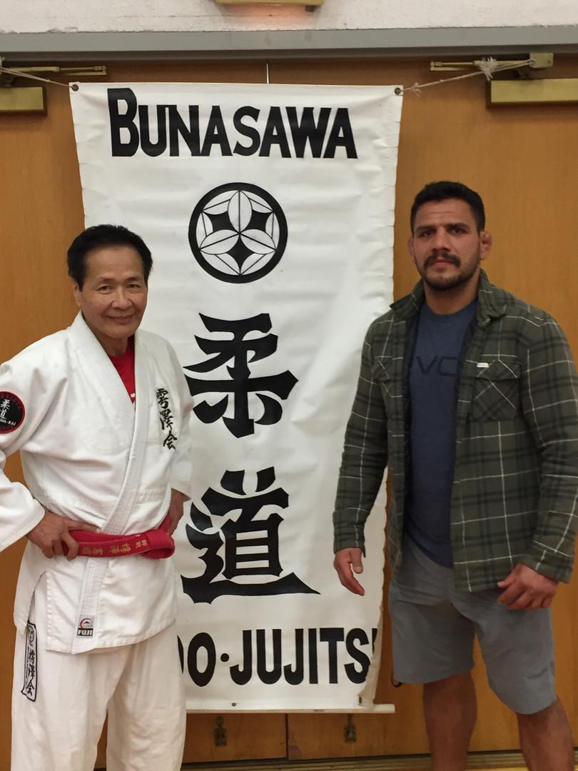 Sensei Bunasawa and Former UFC Champion Raphael Dos Anjos