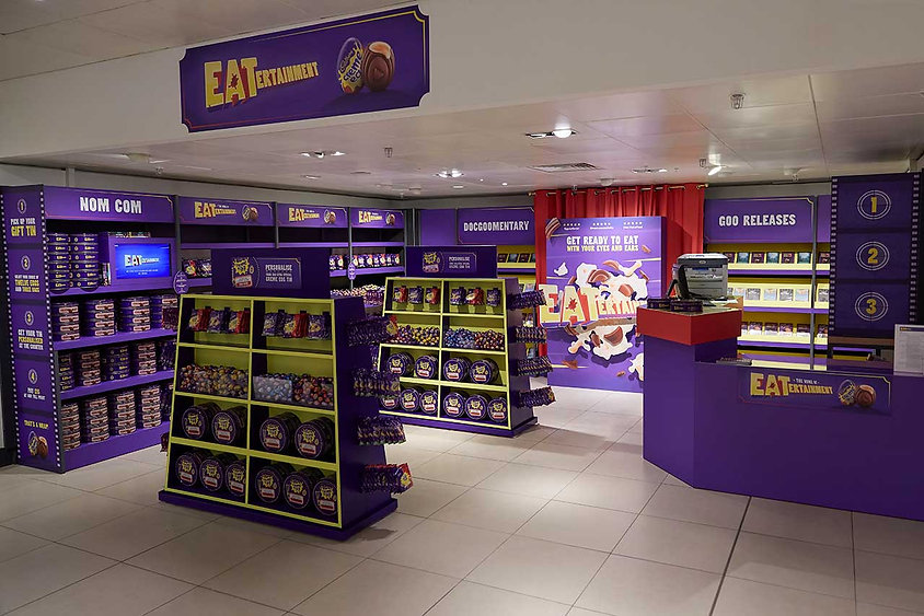 Cadbury Eatertainment in John Lewis