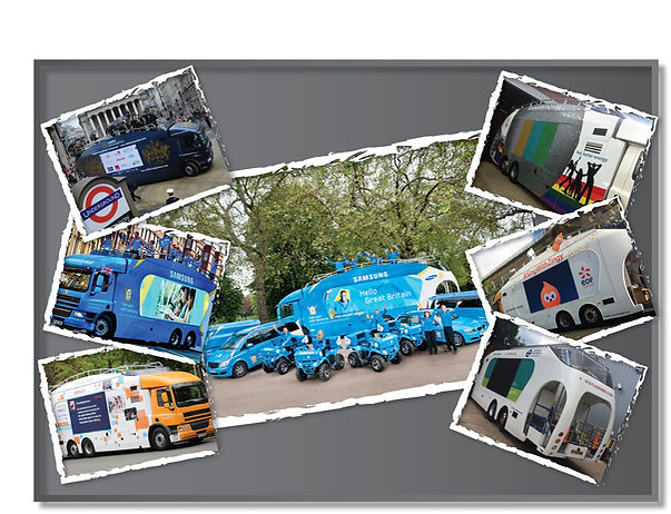 Vehicle Graphics and branding, Olympic Torch Tour, Samsung, London