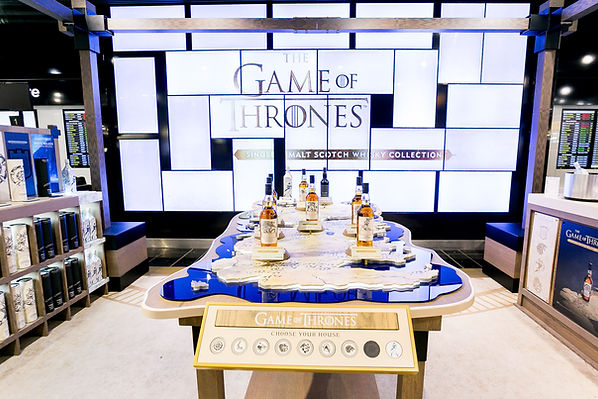 Game of Thrones Travel Retail Stand, Single Malt Whiskey Collection