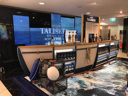 Talisker Travel Retail Semi Permanent Stand, Glasgow International Airport