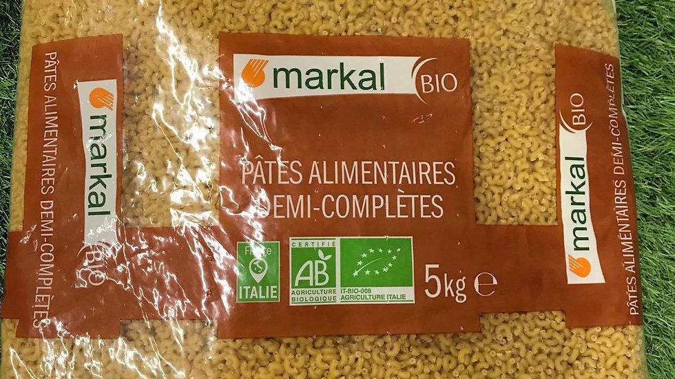 Pâtes Coquillettes Demi Complètes 5kg