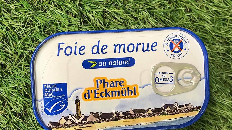 Foie de Morue au Naturel Sans Sel 121gr