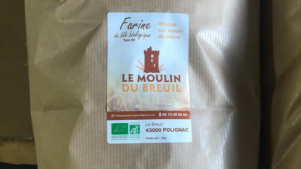 Farine Blé T80 Haute Loire 5kg