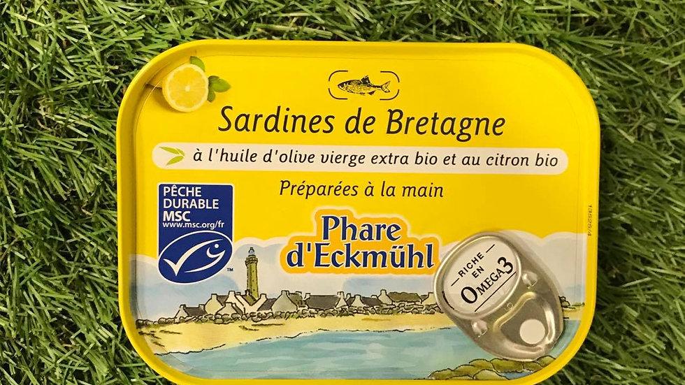 Sardines Huile d'Olive et Citron 135gr