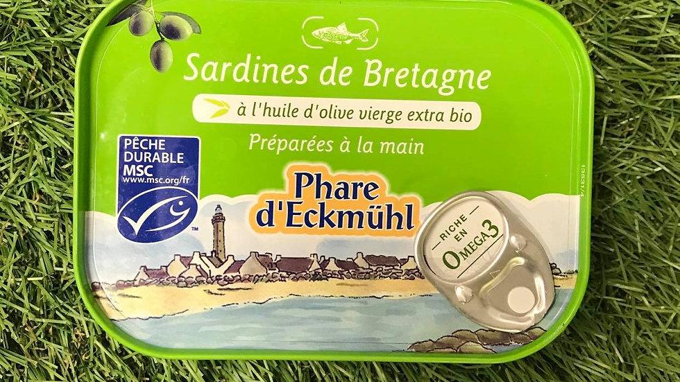 Sardines Huile d'Olive Vierge 135gr