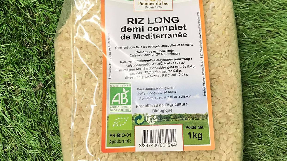 Riz Long Demi Complet 1kg