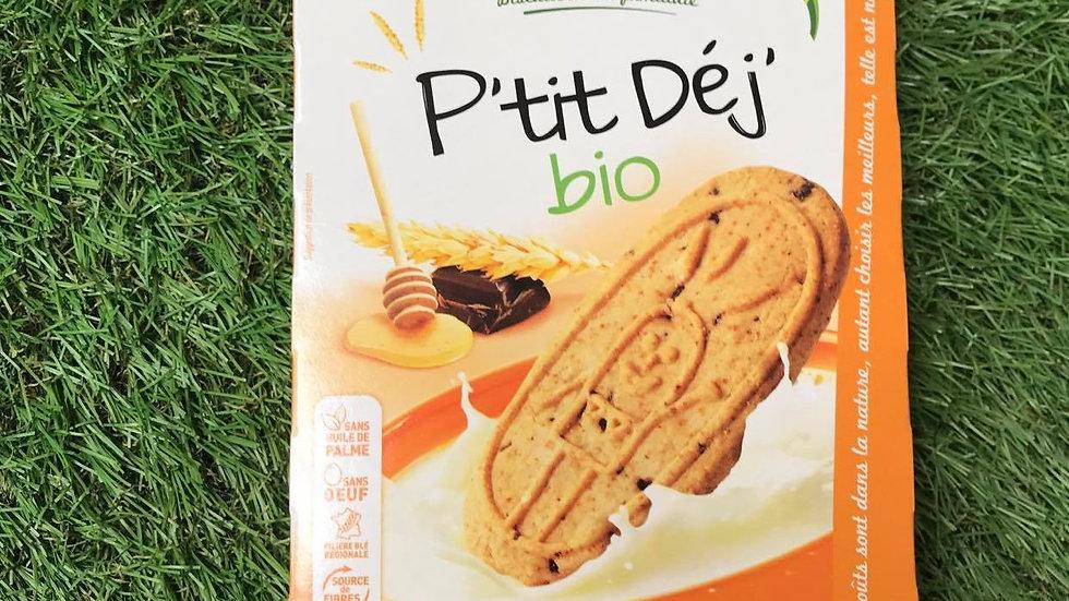 Biscuits P'tit Dej' Céréales, Chocolat et Miel 190gr