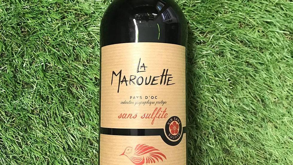 """Vin Rouge Sans Suflites """"La Marouette"""" 75cl"""