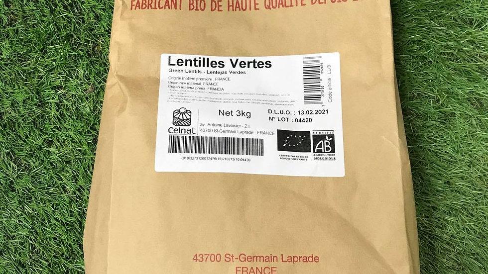 Lentilles Vertes 3kg