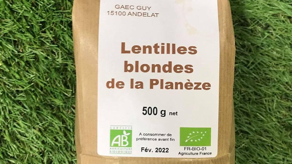 Lentilles Blondes de la Planèze 500gr