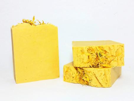 Creamy Lemon Calendula Hot Process Soap (10-Minute Hot Process Soap)