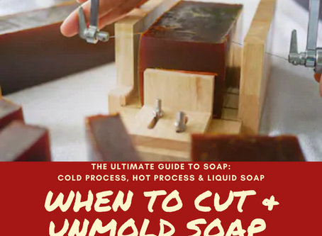 When can I cut and unmold my soap? The two factors you should look for to get the perfect cut!