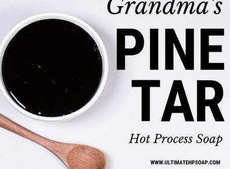 Grandma's Pine Tar 10-Minute Hot Process Soap