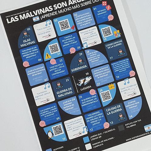 Las Malvinas son argentinas - Tablero de juego interactivo