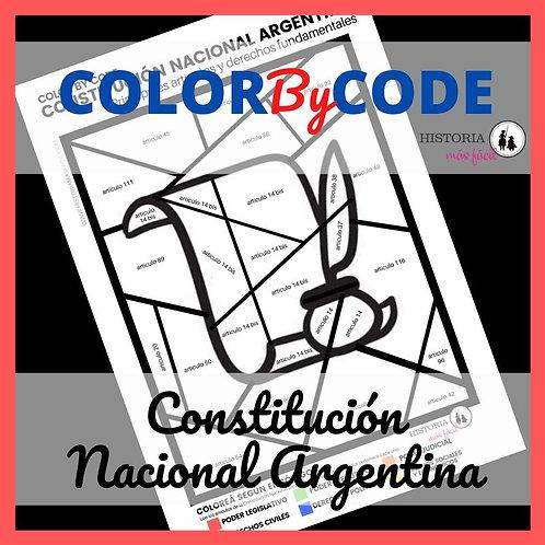 COLOR by CODE: Constitución Nacional Argentina