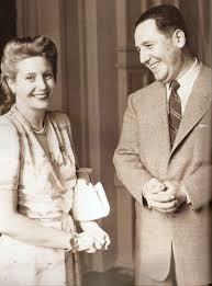 Evita y Perón (Fuente: Caras y Caretas 2236, 1950)
