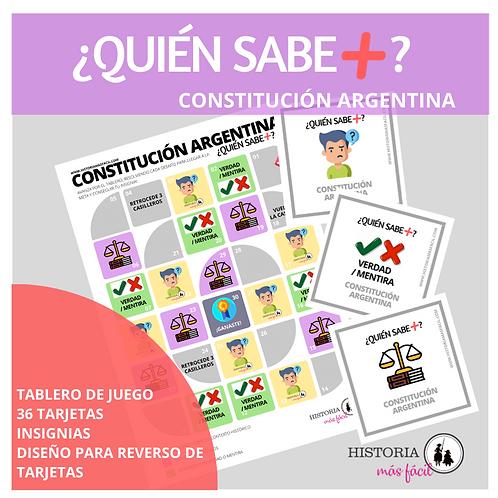 ¿QUIÉN SABE+? Constitución Argentina