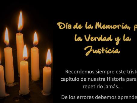 24 de marzo - Día de la Memoria, por la verdad y la justicia