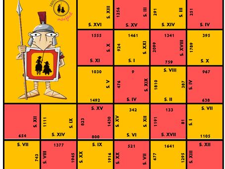 Block Puzzle - Siglos y Años. Números Romanos