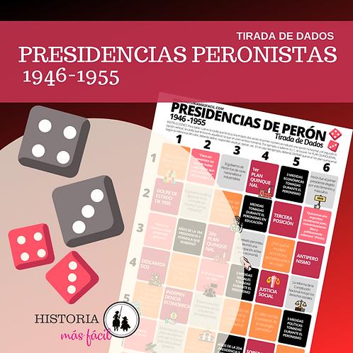 Presidencias peronistas 1946-1955 - Tablero Tira los dados