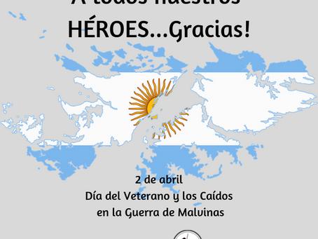 2 de abril | Día del veterano y de los caidos en la guerra de Malvinas