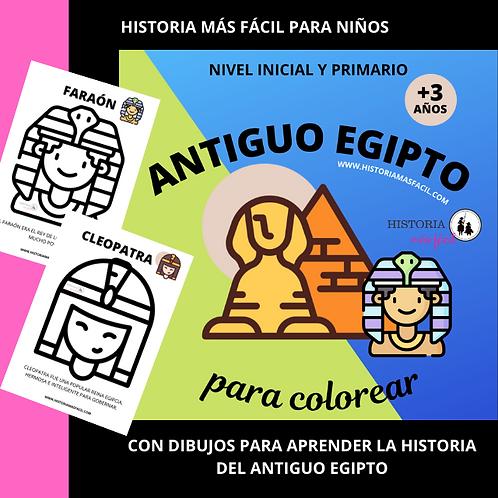 Egipto para Niños - Libro para colorear