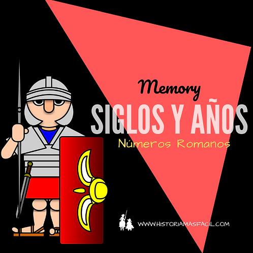 JUEGO MEMORY - SIGLOS Y AÑOS