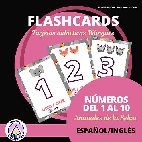 Flashcards (Tarjetas didácticas) Primeros Números (1 al 10)