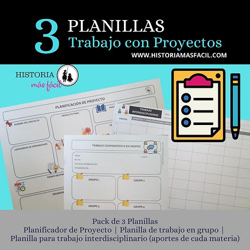 Planillas para el trabajo con Proyectos