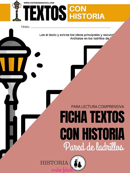 Ficha Pared de ladrillos - Textos con Historia