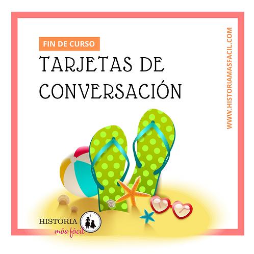 Tarjetas de conversación  - FIN DE CURSO