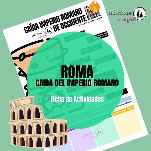 Caída del Imperio romano de Occidente - Ficha de actividades