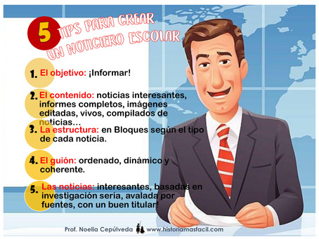 """5 Tips para crear un Noticiero Escolar"""