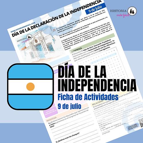 Ficha de trabajo - Día de la Independencia